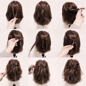 прически на короткие волосы в домашних условиях фото пошагово