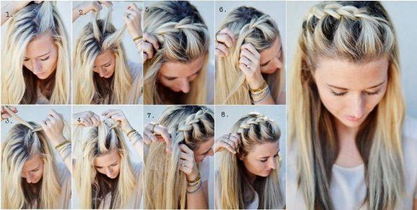 причёски на длинные волосы своими руками в домашних условиях фото
