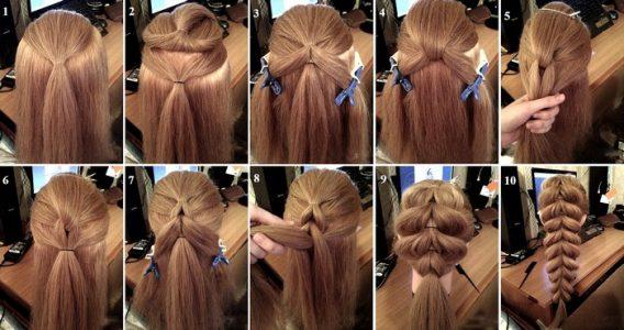 прически на длинные волосы легко и просто