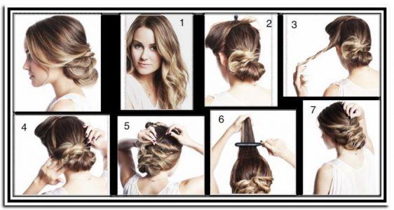 причёски на средние волосы в домашних условиях фото пошагово