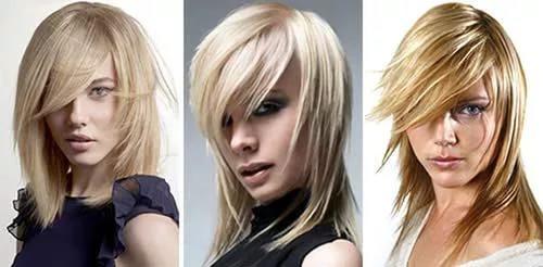 женская стрижка на средние волосы - каскад