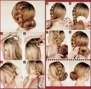 как сделать прическу самому себе на средние волосы