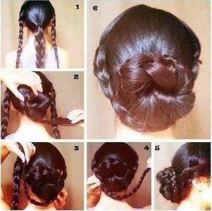 причёски на длинные волосы своими руками в домашних условиях фото пошагово