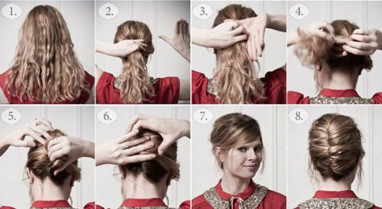 как сделать красивую прическу на средние волосы в домашних условиях