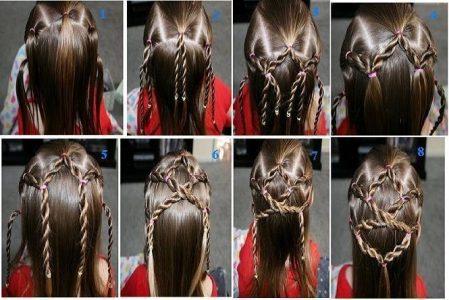 причёски на длинные волосы для девочек фото пошагово