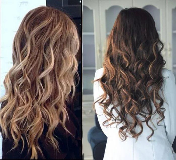 окрашивание балаяж на темные волосы (фото до и после) и на русые волосы
