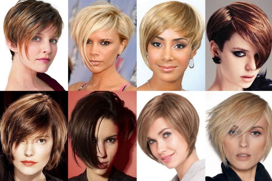 Модельные причёски для женщин на короткие волосы фото и название