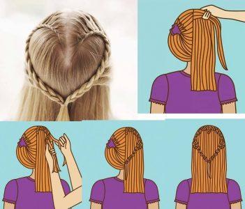 прически на средние волосы фото пошагово для девочек