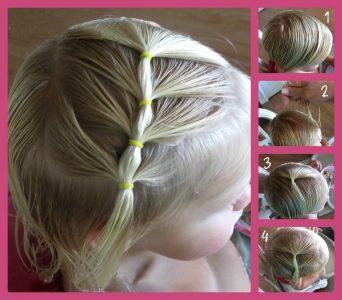 Детские прически на средние волосы для девочек