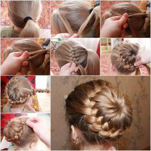 прически на длинные волосы фото пошагово для девочек