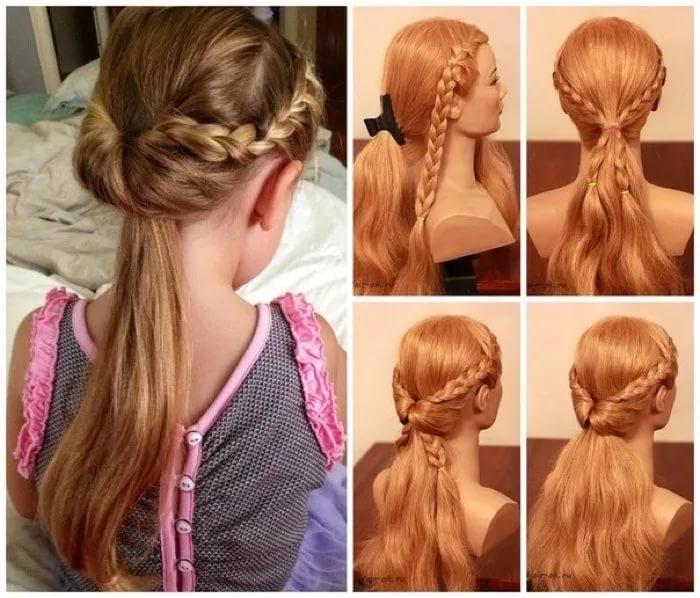 прически для девочек на длинные волосы пошагово фото