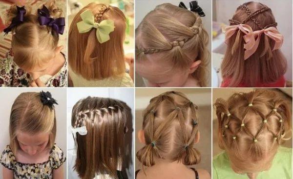 Причёска для девочки легкие 48