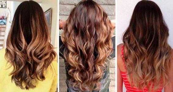 Окрашивание концов волос на русые волосы
