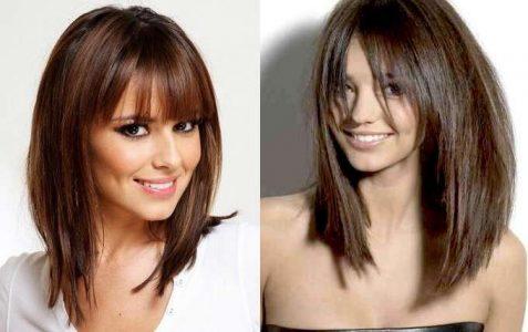 стрижка волос 2017, фото новинки на средние волосы