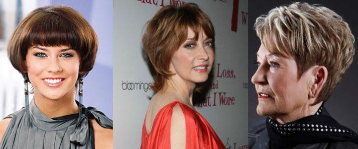 прически на короткие волосы для женщин 40 лет (фото)