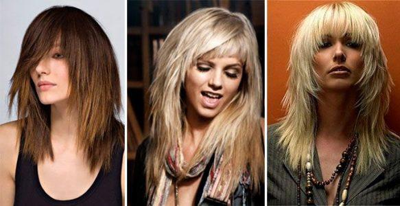 каскадная стрижки на средние волосы (фото 2017)