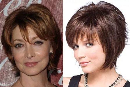 прически для женщин 40 лет на короткие волосы (фото)