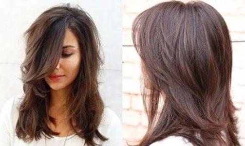 стрижки каскад на средние волосы фото