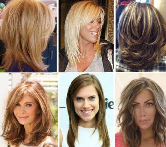 каскадная стрижка волос на средние волосы