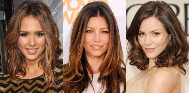 окрашивание волос 2017 фото новинки на средние волосы для брюнеток