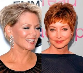 женские стрижки на короткие волосы для женщин 50 лет и после (фото)