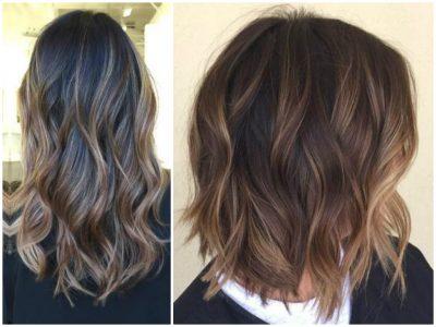 окрашивание волос балаяж (фото на средние волосы)