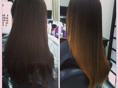 окрашивание шатуш на темные волосы (фото до и после)