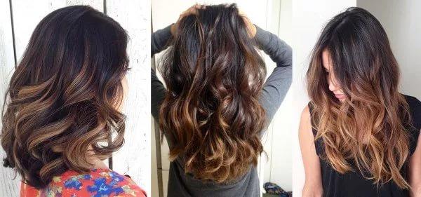 окрашивание балаяж на темные волосы (фото)