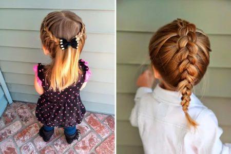 детские причёски для девочек на каждый день в садик