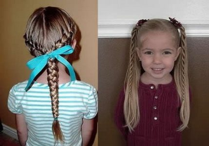 детские причёски для девочек в садик за 5 минут лёгкие, красивые