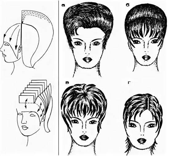 стрижка женская короткая схемы в картинках