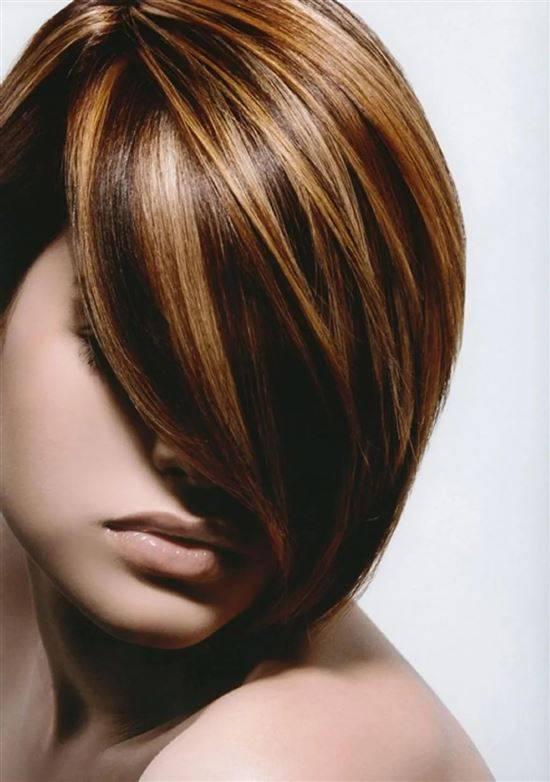 Колорирование картинки на коротки волос