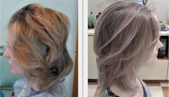 Мелирование на осветленные волосы с отросшими