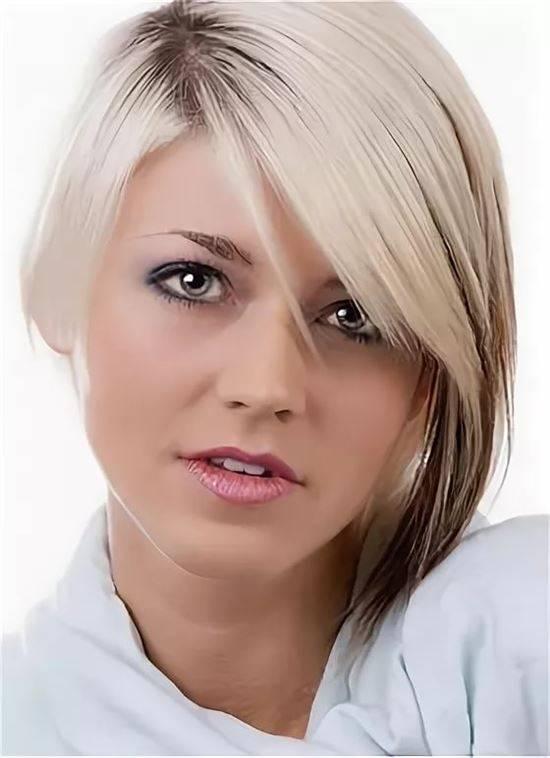 первая стрижки для редких волос фото женские расчищено