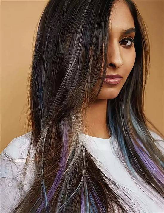 сильная, цветные пряди на черных волосах фото провели обширные исследования