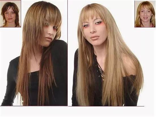 стрижка эффект нарощенных волос фото одежде интерьере