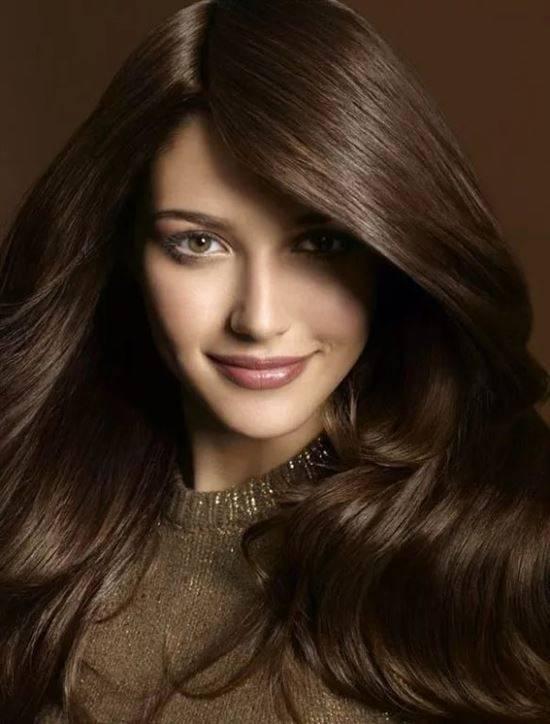 Каштановые и русые волосы фото