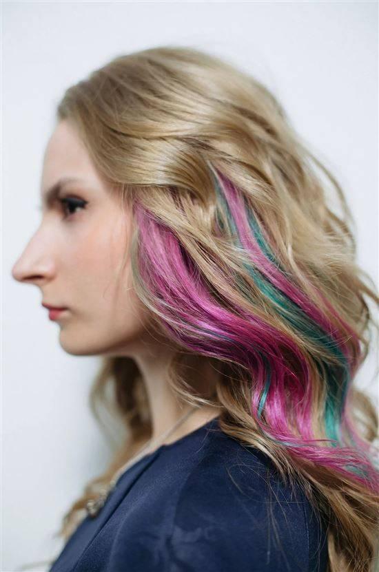 Цветные покраски волос фото