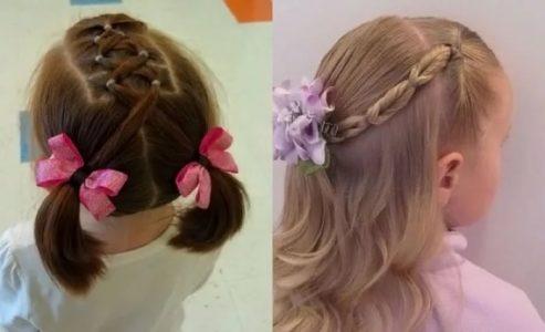 причёски для девочек в садик за 5 минут лёгкие, красивые