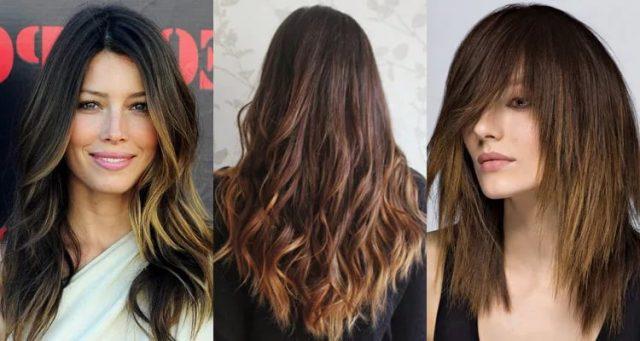 Окрашивание шатуш на темные волосы, фото до и после