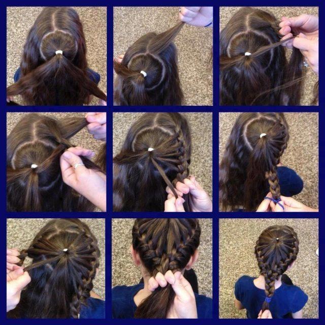Прически на средние и на длинные волосы фото пошагово для девочек